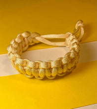 Load image into Gallery viewer, Light Yellow Paracord Bracelet