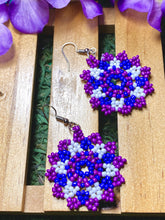 Load image into Gallery viewer, Purple Beaded Earrings