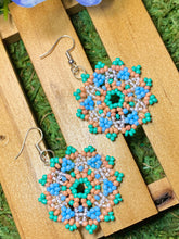 Load image into Gallery viewer, Baby Blue Beaded Earrings