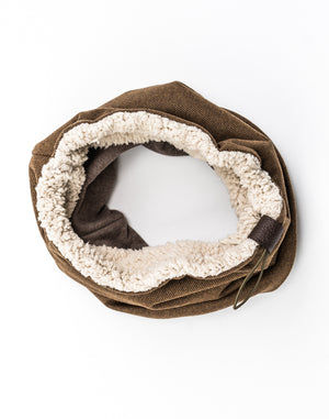 camel twill wool cowl [long]