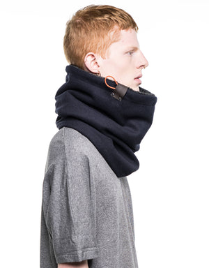 Mens accessories, cowl scarf, husband gift, for him, gift for him, lined with faux fur