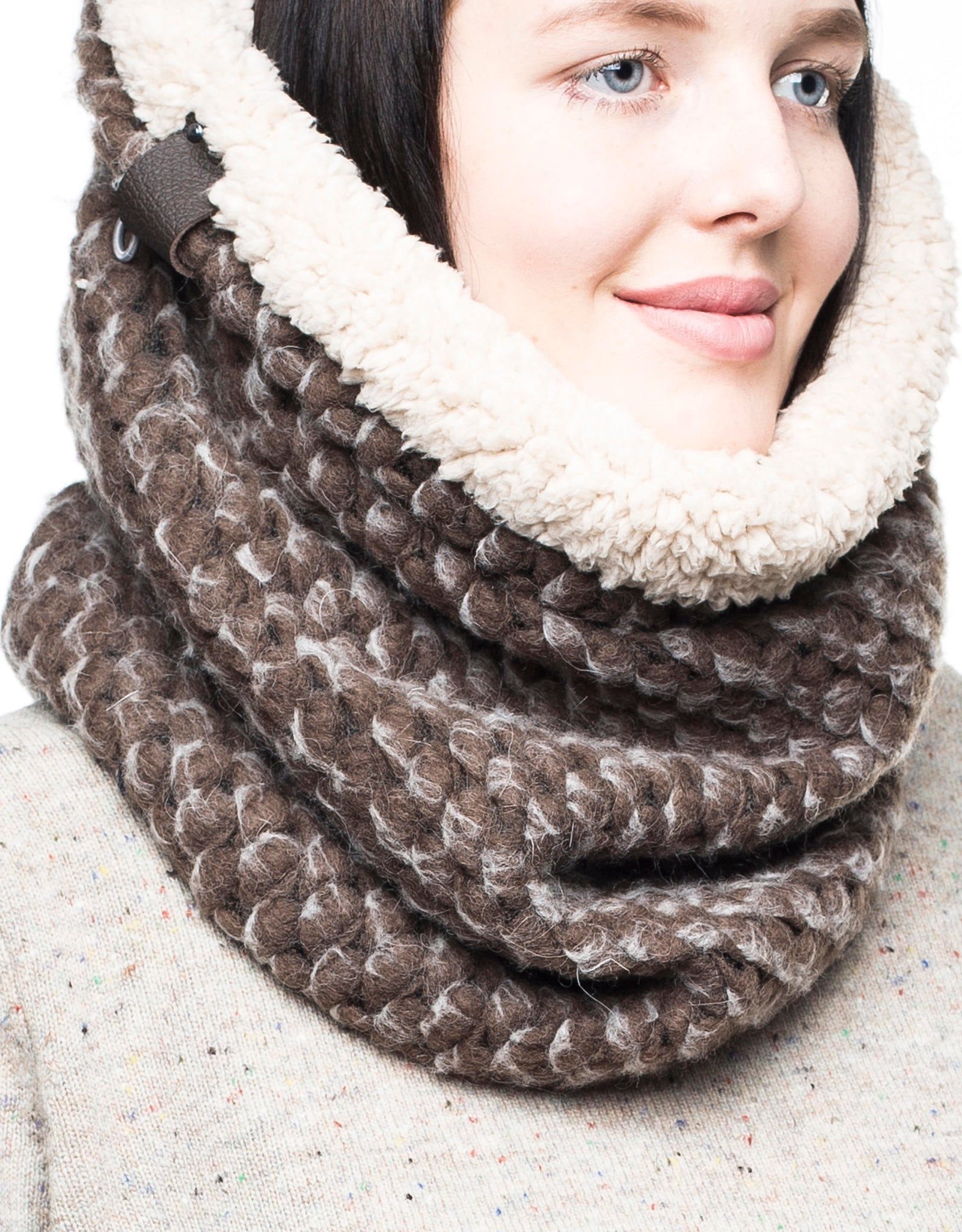 chunky knit scarf knit accessories womens scarf warm scarf wool scarf infinity scarf circle scarf