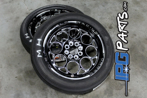 Weld Racing Magnum Import 15x3.5 Drag Wheel and Tire Package