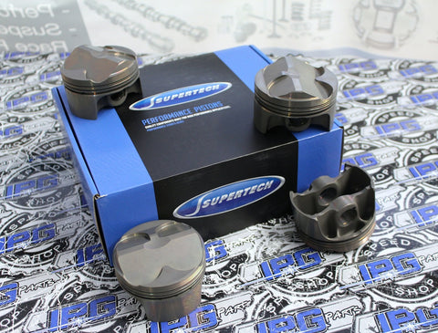 Supertech Performance Pistons with 12.5:1 Compression Ratio, 86mm Bore for the Honda - Acura K20A, K20A2, K20Z1, and K20Z3 Engines