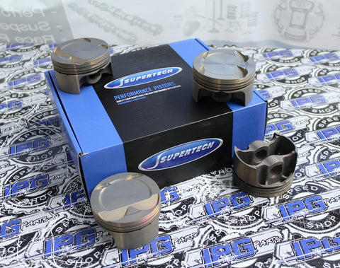 Supertech Performance Pistons with 9.1:1 Compression Ratio, 86mm Bore for the Honda - Acura K20A, K20A2, K20Z1, and K20Z3 Engines