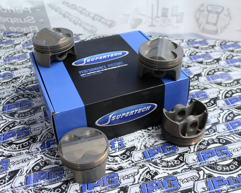 Supertech Performance Pistons, 81.00mm to 82.00mm Bore Size for the Toyota Corolla 4AGE 16v Engines 20mm Wrist Pin