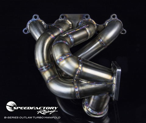Speed Factory Racing Forward Facing Outlaw Turbo Manifold for Honda - Acura B Series (B16 B18 B20) Engines