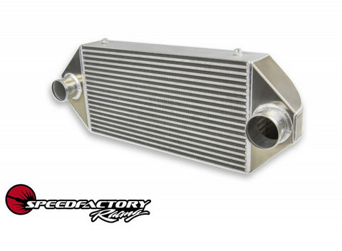 "Speed Factory Racing HPX Dual Backdoor Front Mount Intercooler (1000HP-1200HP) 3"" Inlet - 3.5"" Outlet"