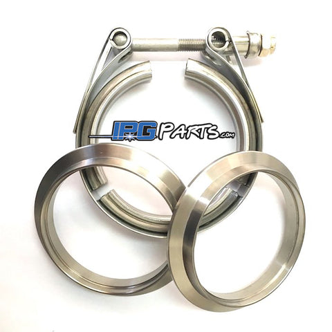 "TiCON Industries 2.5"" Titanium V Band Assembly (2 Flanges & 1 Clamp)"