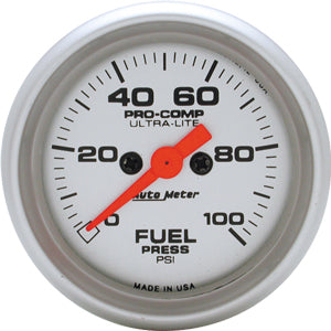Autometer Ultra-Lite Fuel Pressure 0-100 PSI