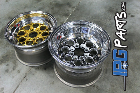"Weld Magnum Import Drag Wheels - 15x10 - 4x100 - 6"" Backspacing"