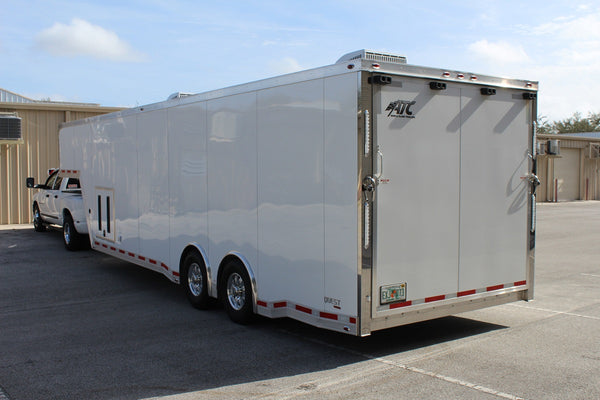 SOLD * 2016 ATC 34' Gooseneck Aluminum Race Car Trailer, Excellent Condition