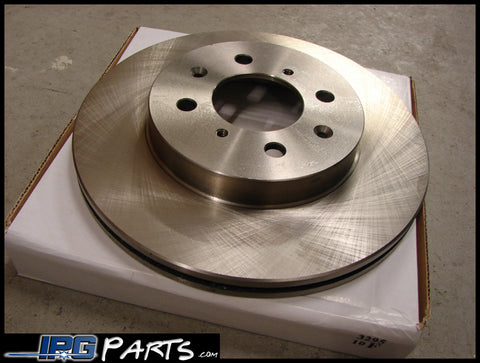 Centric Front Pair of Blank Brake Rotors for Civic, Integra, CRX, etc