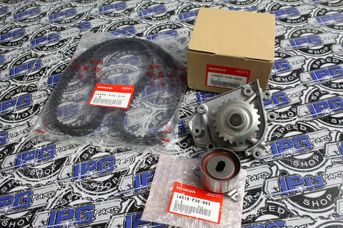 OEM Honda Water Pump, Tensioner and Timing Belt Kit for B Series Engines