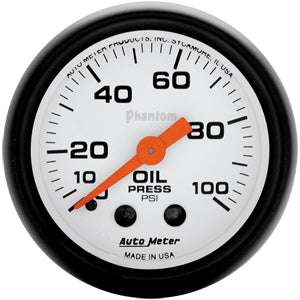 Autometer Phantom Oil Pressure Gauge 0-100 PSI (Mechanical)