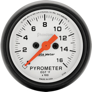 Autometer Phantom Pyrometer 0-1600 PSI