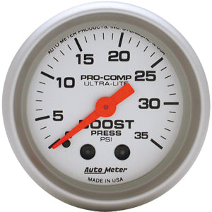Autometer Ultra-Lite Boost Gauge 0-35 PSI