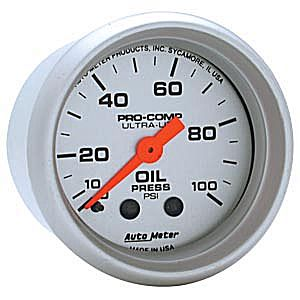 Autometer Ultra-Lite Oil Pressure Mechanical Gauge 0-100 PSI
