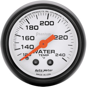 Autometer Phantom Water Temperature Gauge (Mechanical)