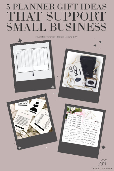 5 Planner Gift Ideas that Support Small Business