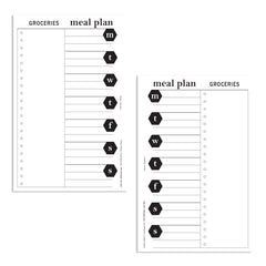 PDFs of meal planning printables two sides with grocery list and weekly meals