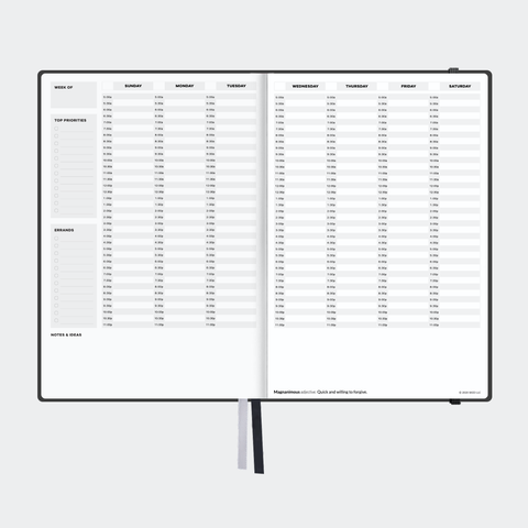 Sked Classic Black Planner