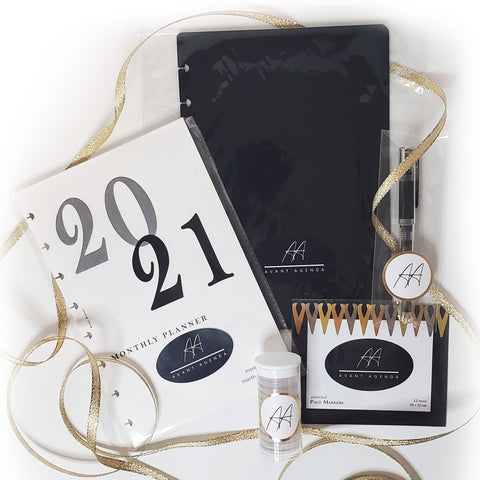 2021 Avant Agenda Discbound Planner and Metal Page Markers Subscription Box Items