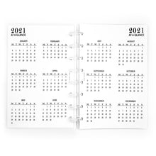 Load image into Gallery viewer, 2021 Monthly Planner Inserts | Pocket Size | 6-Ring Punched
