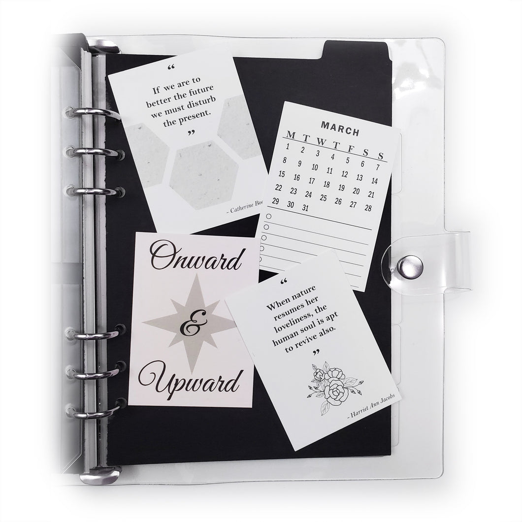 Frosted Planner Page Protector | A5 (6-Ring Punched)