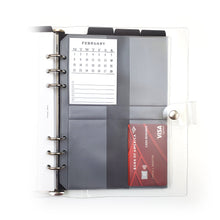 Load image into Gallery viewer, Frosted Planner Credit & Index Card Holders | A5 (6-Ring Punched)