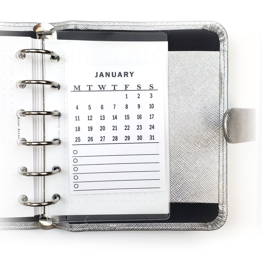 Frosted Planner Card Holder | Pocket (6-Ring Punched)