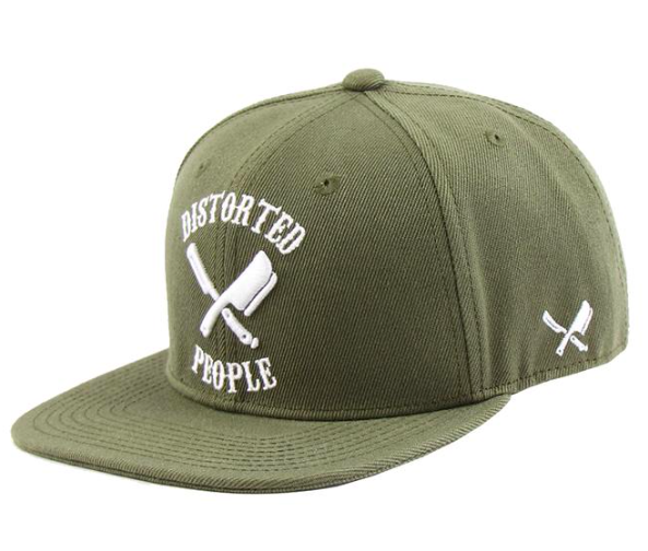 DISTORTED PEOPLE - TEAM/OLIVE/WHITE/SNAPBACK CAP