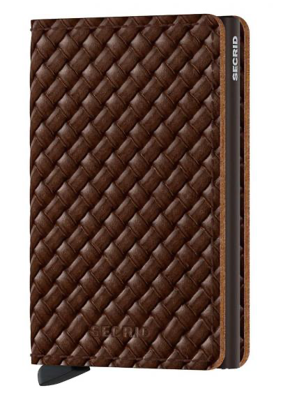 SLIMWALLET BASKET BROWN
