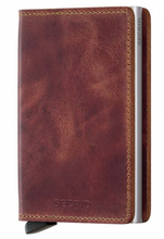 Lade das Bild in den Galerie-Viewer, SLIMWALLET VINTAGE BROWN