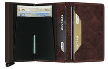 Lade das Bild in den Galerie-Viewer, SLIMWALLET VINTAGE CHOCOLATE
