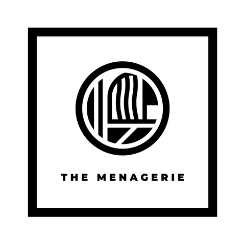 The Menagerie Bordered Sticker - The Menagerie