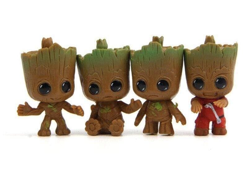 Collection 4 figurines de Groot