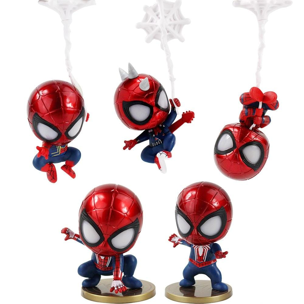 Lot 5 figurines de Spider-Man