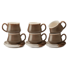 Load image into Gallery viewer, Vegan Traditional Matka Style Tea Cups & Saucers Premium - Set Of Six