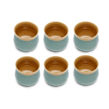 Load image into Gallery viewer, Vegan Grooved Tea Tumblers - Set of Six
