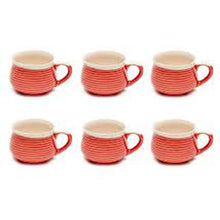 Load image into Gallery viewer, Vegan Grooved Tea Cups - Set of Six