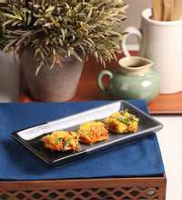 Load image into Gallery viewer, Vegan Ceramic Rectangular Serving Tray Multi Colored