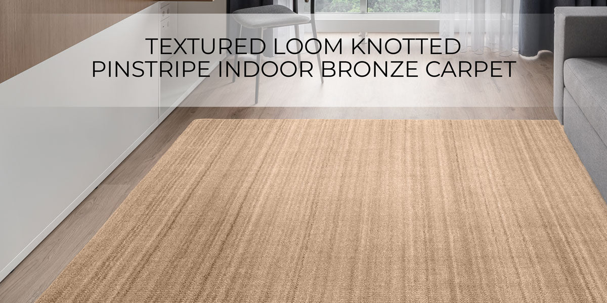 Textured Loom Knotted Pinstripe carpets