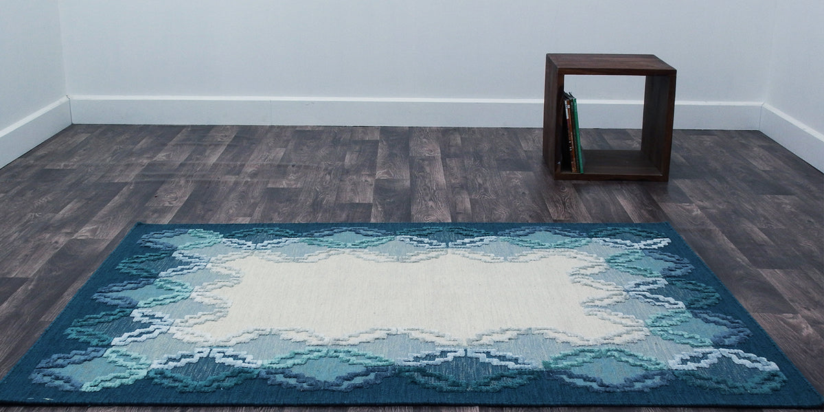 contemporary-ombre-border-handwoven-turquoise-rug