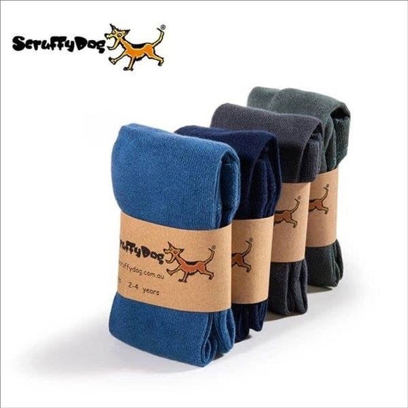 Scruffy dog tights - cool colours
