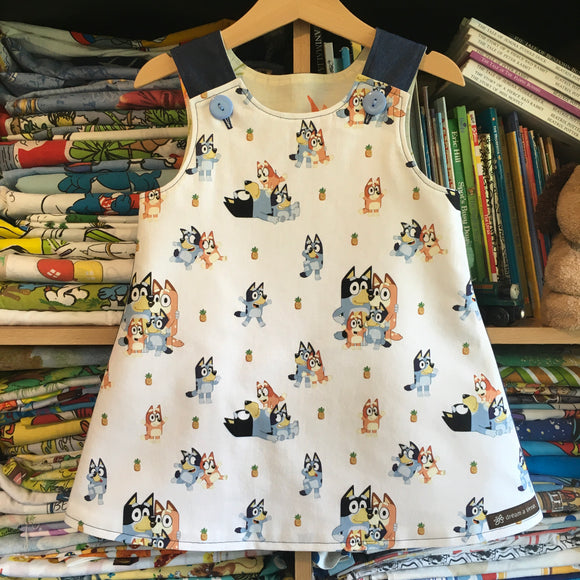 Family pinny - girls handmade dress
