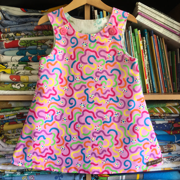 Squirms pinny - handmade girls dress