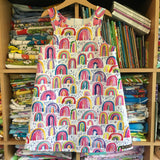 Watercolour Rainbow pinny - handmade girls dress