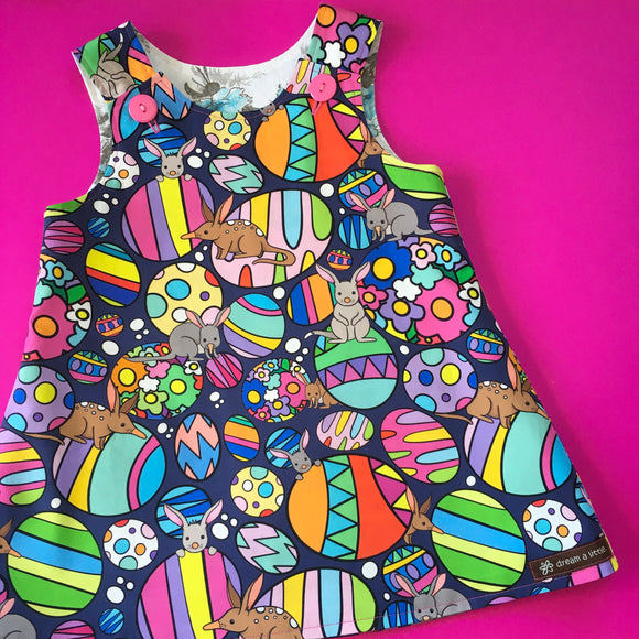 Easter Bilby pinny - handmade girls dress