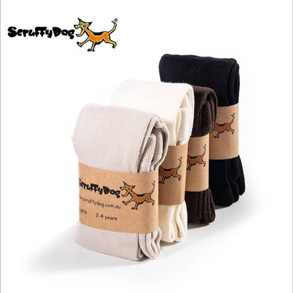 Scruffy dog tights - neutral colours